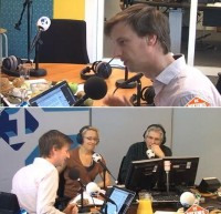 Botte in de studio bij Felix en Willemijn